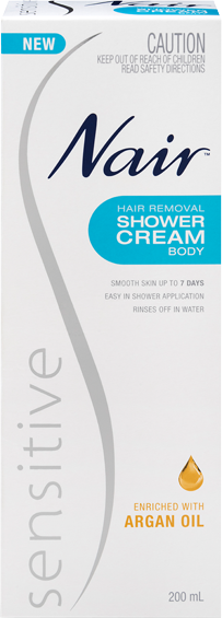 Nair Sensitive Hair Removal Shower Cream 200mL