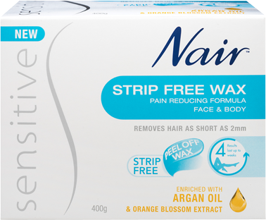Nair Sensitive Strip Free Wax with Argan Oil | Nair™ Australia
