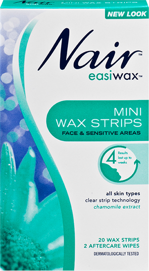 Nair Easiwax Wax Strips Mini 20 WAX STRIPS