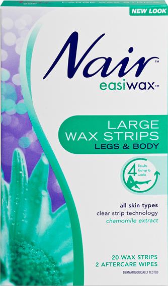 Nair Easiwax Wax Strips Large 20 WAX STRIPS