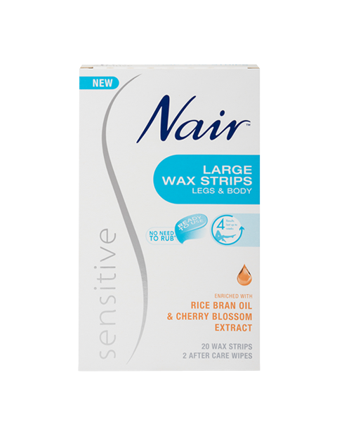 Nair Sensitive Large Wax Strips 20 WAX STRIPS