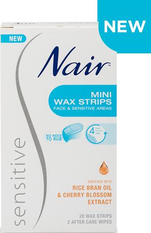 Nair Sensitive Mini Wax Strips 20 WAX STRIPS