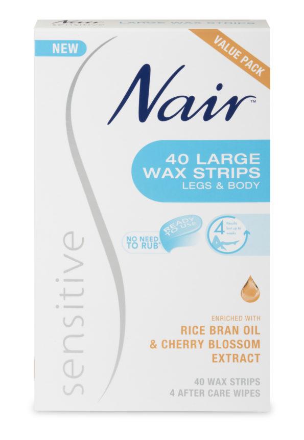 Nair Sensitive Large Wax Strips 40 Value Pack