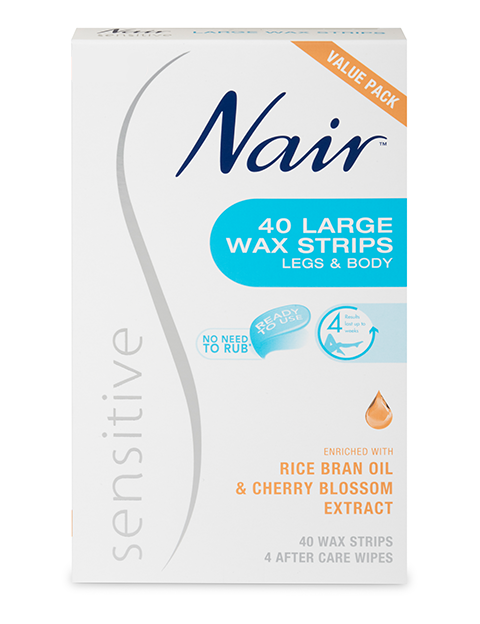 Nair Sensitive Large Wax Strips 40 Value Pack
