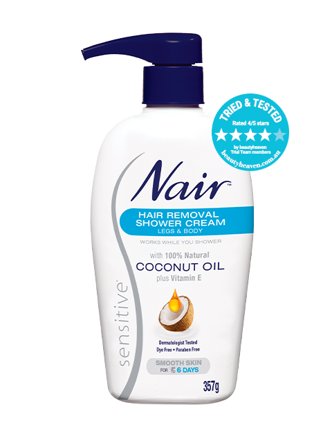 Nair Sensitive Hair Removal Shower Cream With Coconut Oil Nair