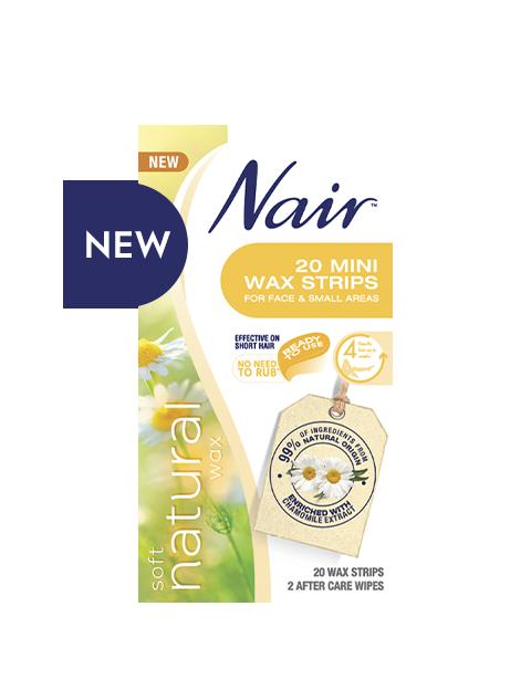 Nair Soft Natural Mini Wax Strips 20 WAX STRIPS