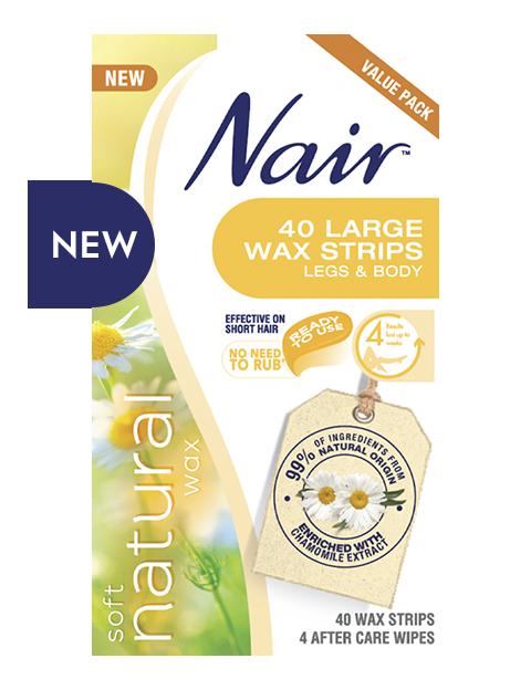 Nair Soft Natural 40 LARGE WAX STRIPS